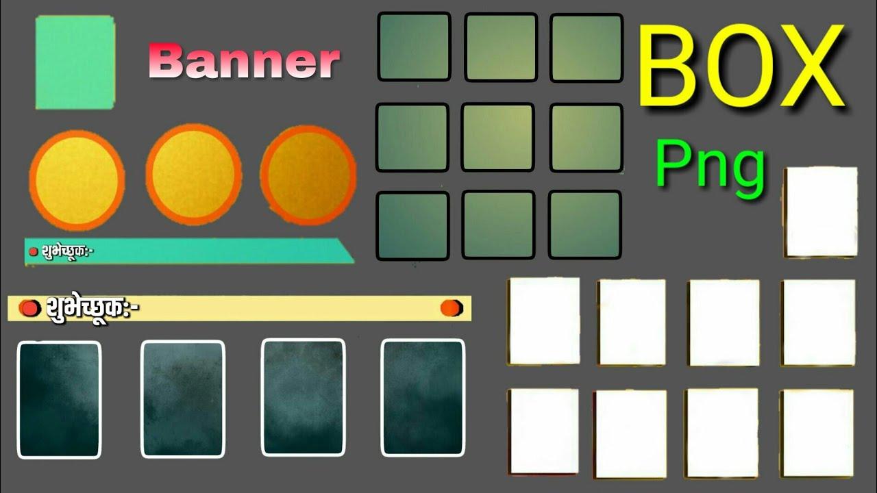 Picsart Banner Box Png I Use Box Png I Picsart Banner Editing.