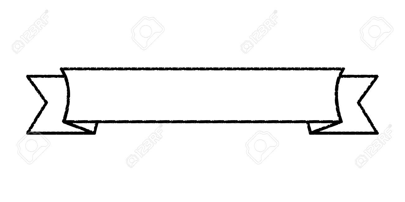 Single blank vintage ribbon banner vector logo design, scroll,...