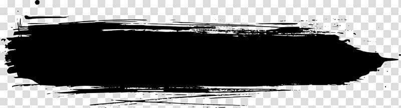 Horizontal black paint brush stroke, Brand White Black M.