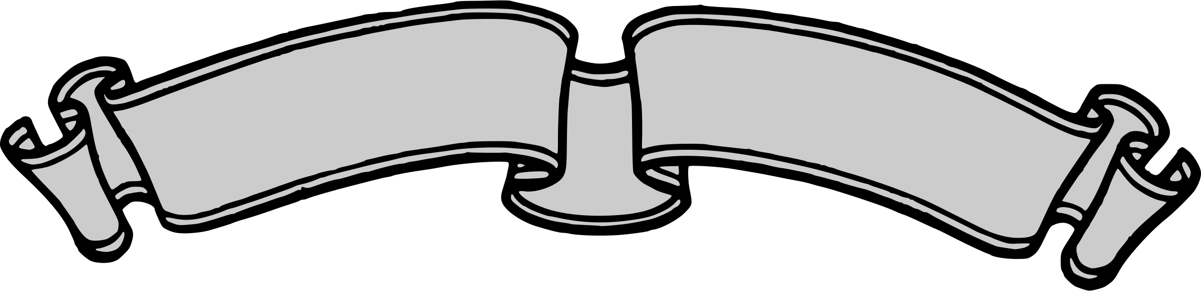 banner clipart black and white png #11