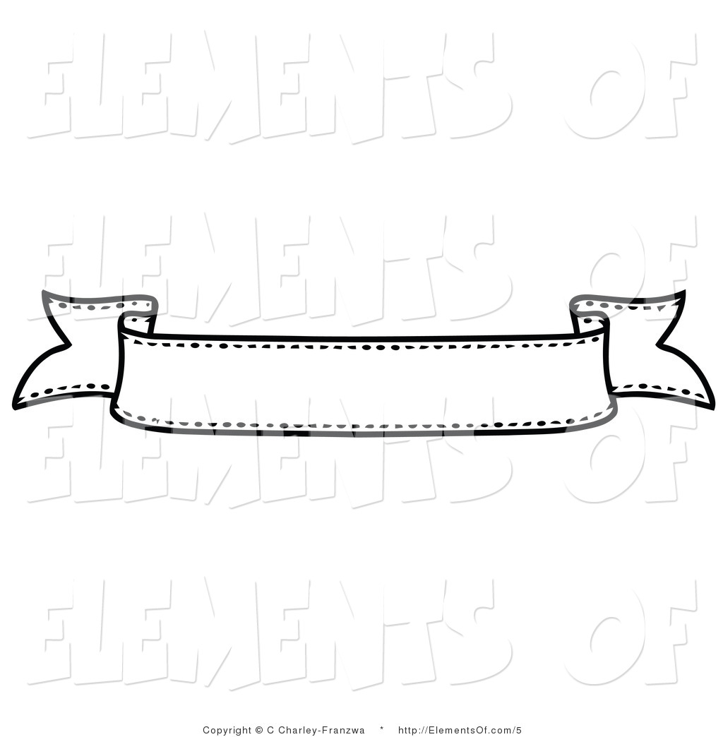 banner clipart black and white png #16
