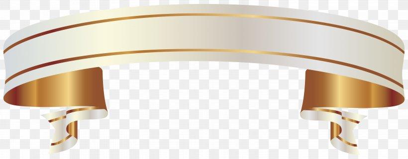 Ribbon Banner Gold Clip Art, PNG, 6241x2439px, Ribbon.