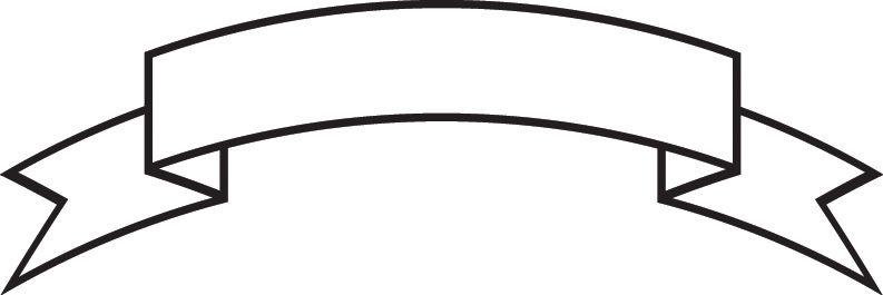Ribbon outline banner clip art free vector for free download.