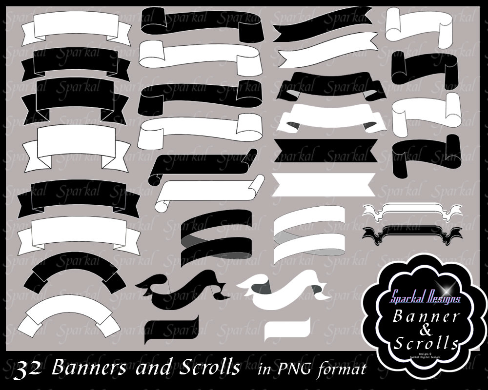 Banner clipart for photoshop.