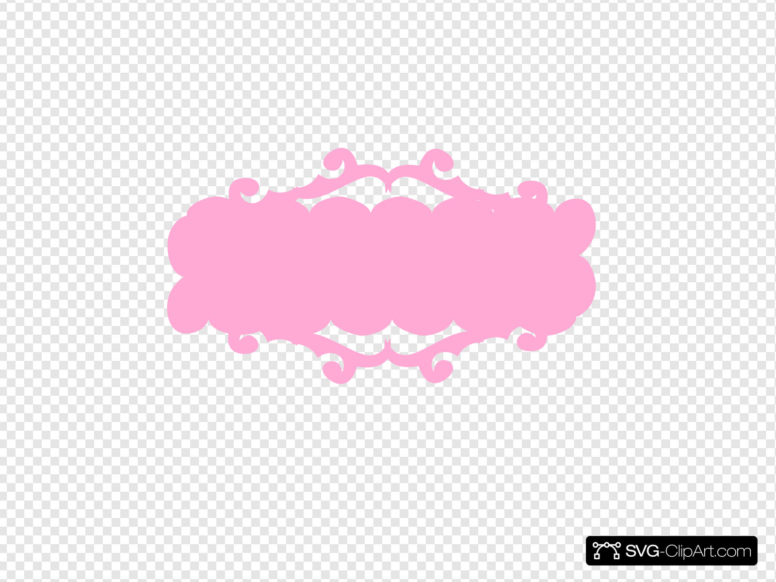 Pink Banner Clip art, Icon and SVG.
