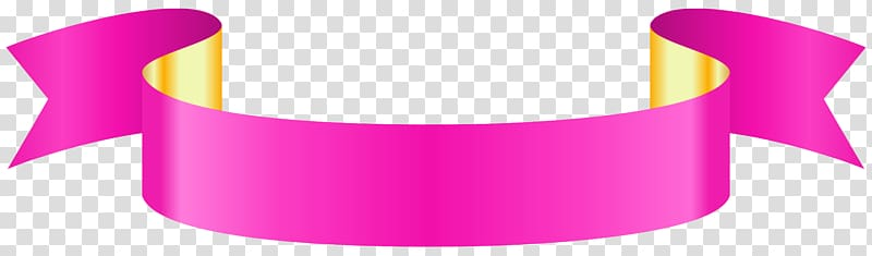 Paper Graphics, Pink Banner , pink and yellow ribbon.