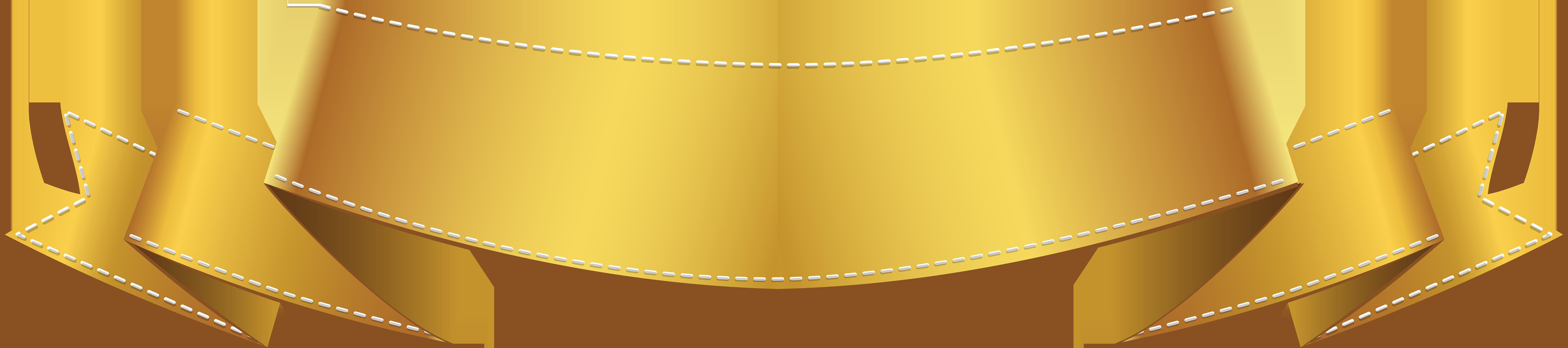 Golden Banner Clip Art PNG Image.