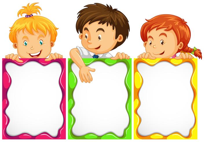 Banner design with cute kids.