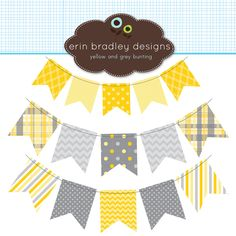 Free shabby chic graphics / clip art for your blog: bunting and.