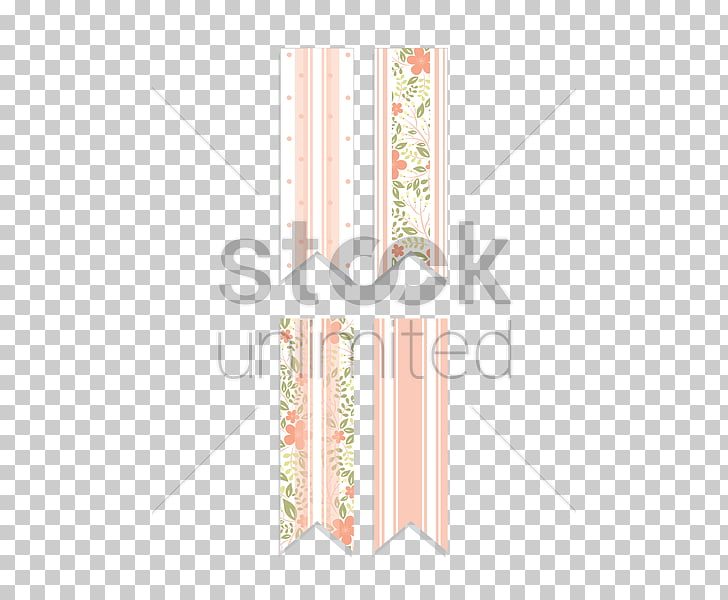 Paper Line Angle Font, floral banner PNG clipart.