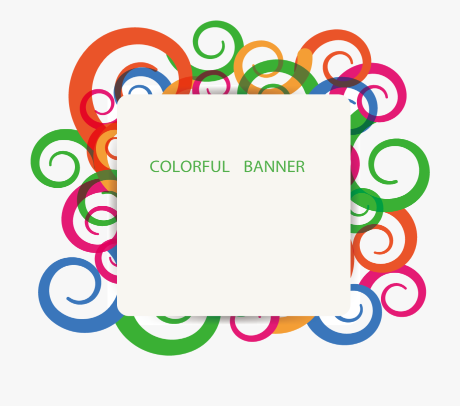 Colorful Banner Clipart.