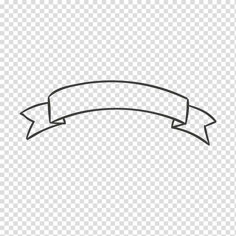 Ribbon illustration, Banner frame transparent background PNG.