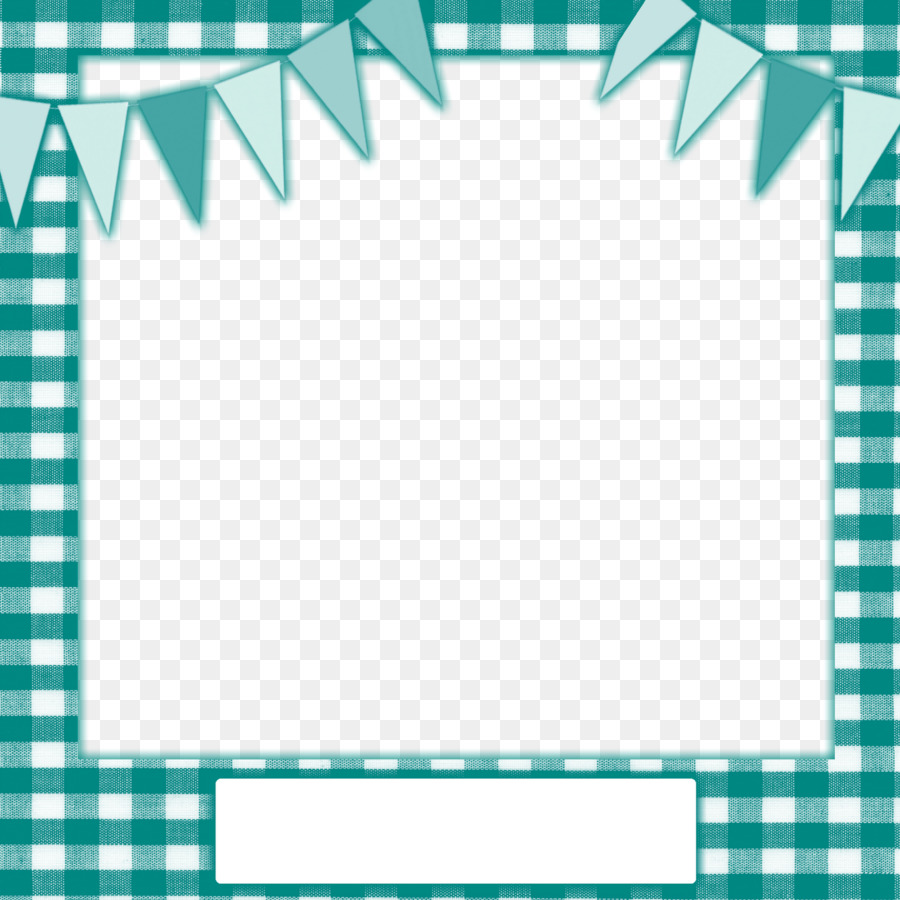 Blue Banner Frame png download.