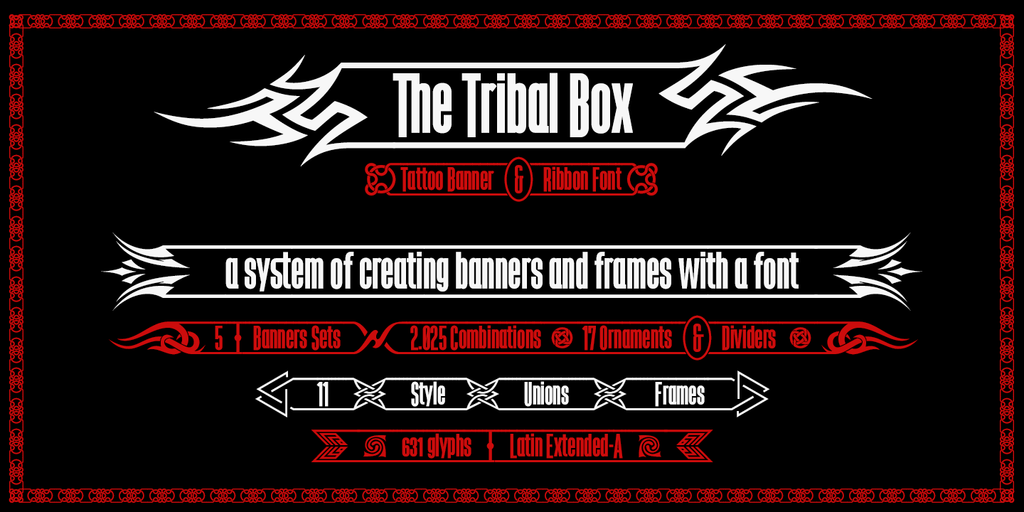 The Tribal Box Font · 1001 Fonts.