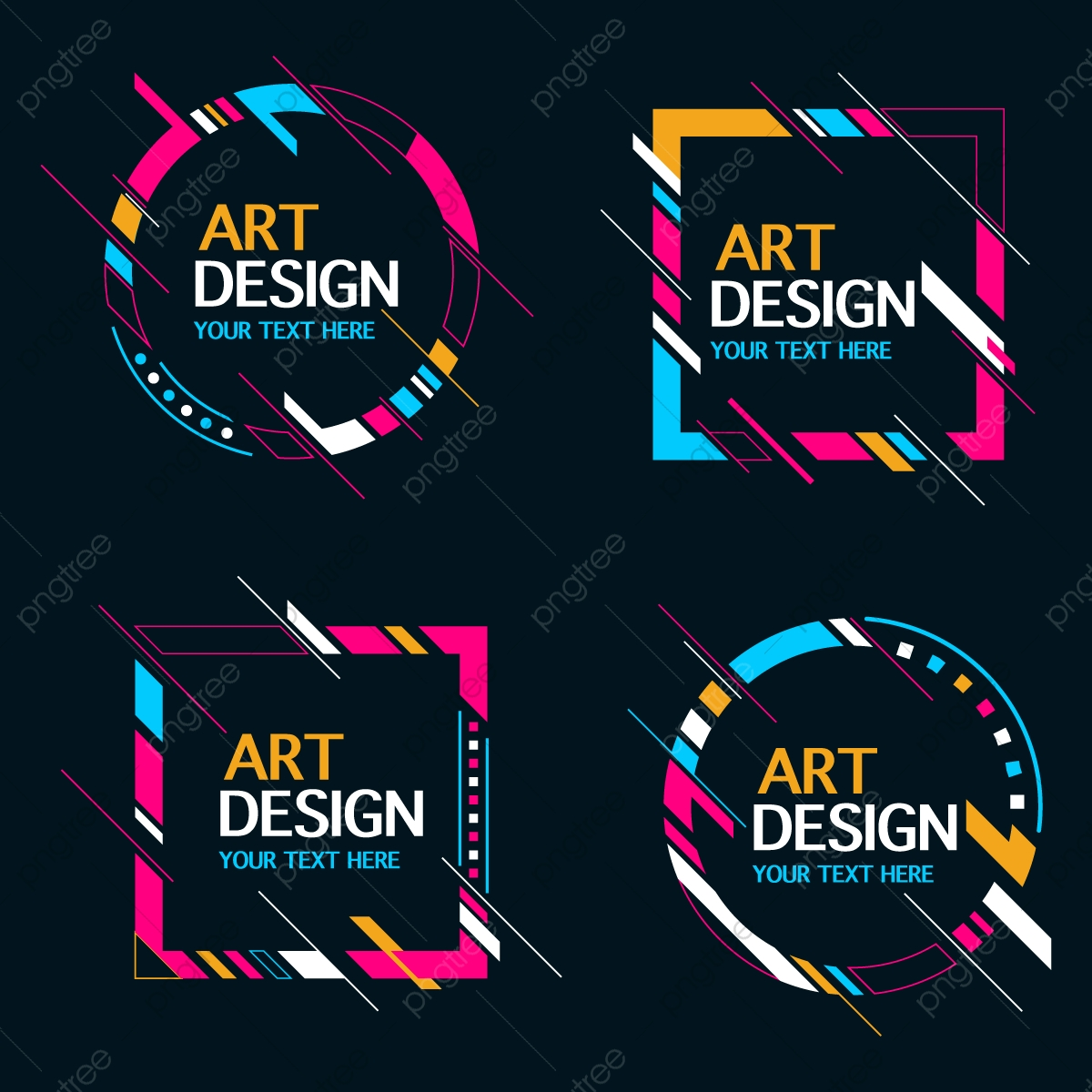 Abstract Shape Banner Frame Collection, Shape, Frame, Line PNG and.