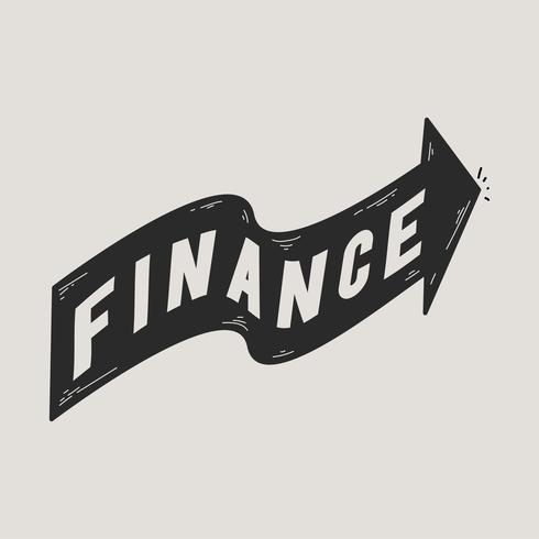 Illustration of finance banner icon.
