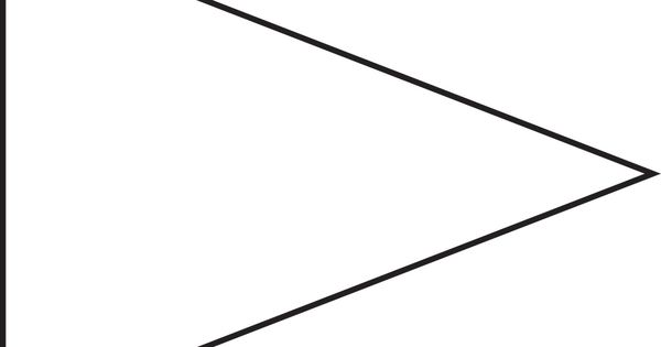 Pin Triangle Flag Outline Clip Art Vector Online Royalty.