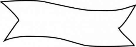 blank ribbon banner outline.