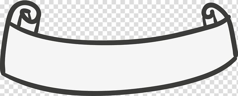 Scroll , Ribbon Banner Adobe Illustrator, Hand drawn Satin.