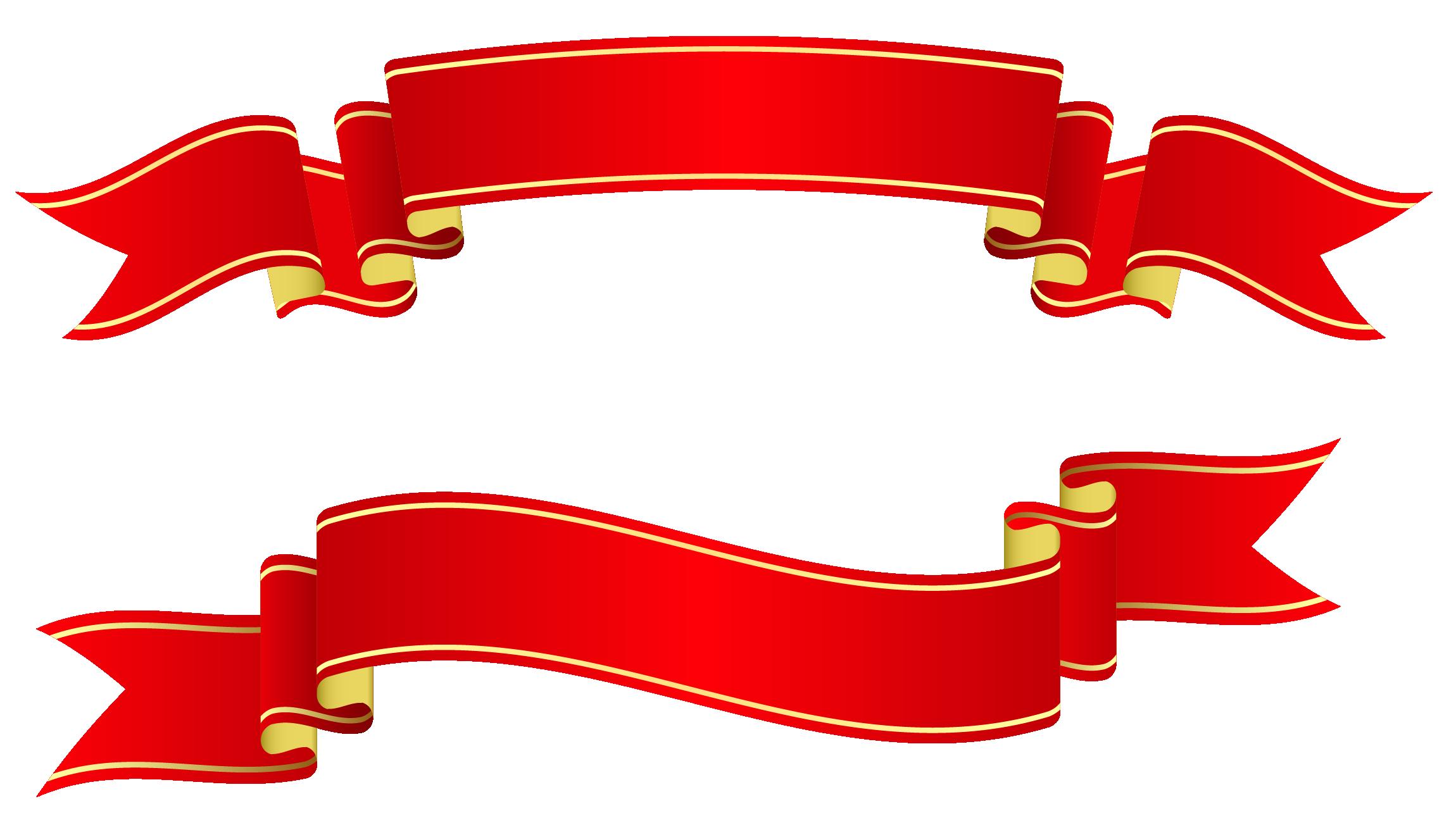 Banner Ribbon Vector Png.