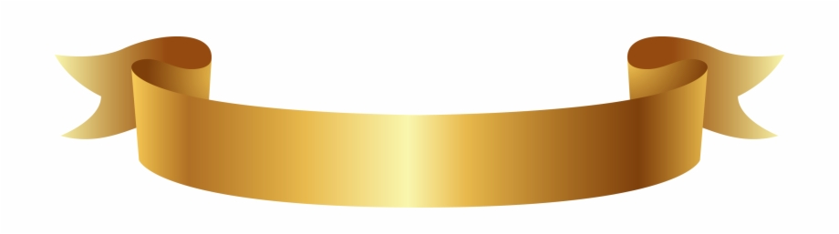 Golden Ribbon Banner Png Clipart.