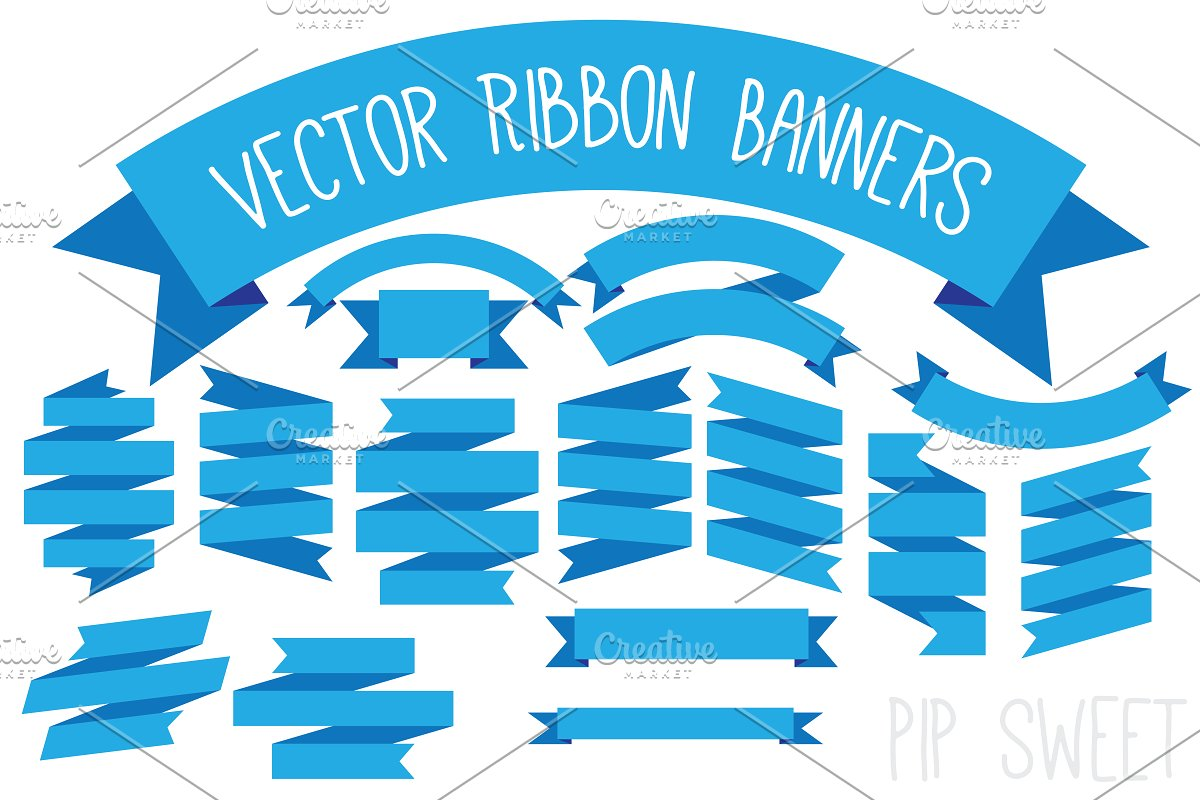 Vector Ribbon Banners.