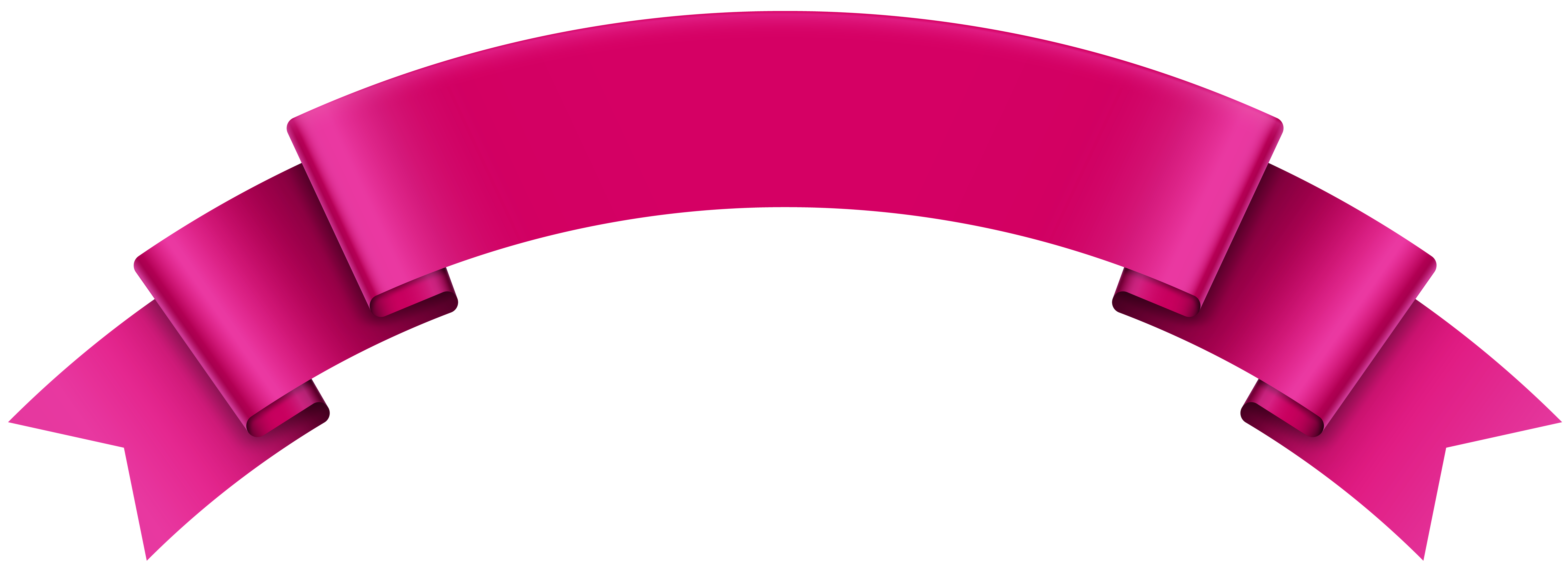 Pink Ribbon Banner Clipart Png.