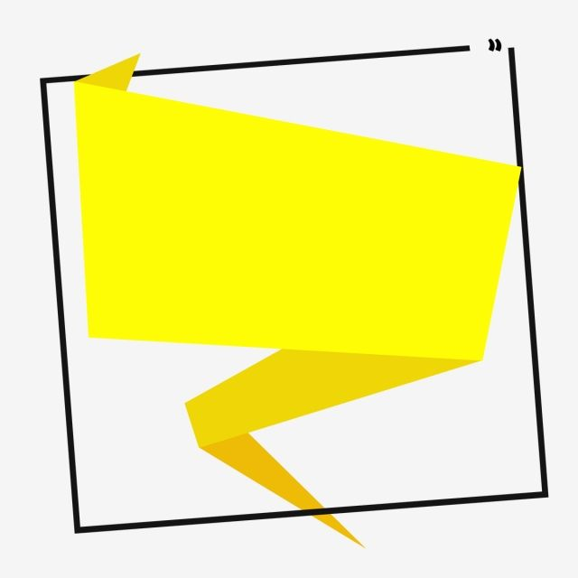 Origami Vector Banner Yellow, Shape, Frame, Banner PNG.