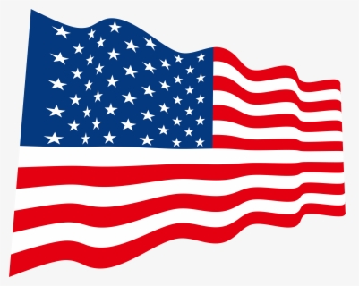 Free American Flag Transparent Clip Art with No Background.