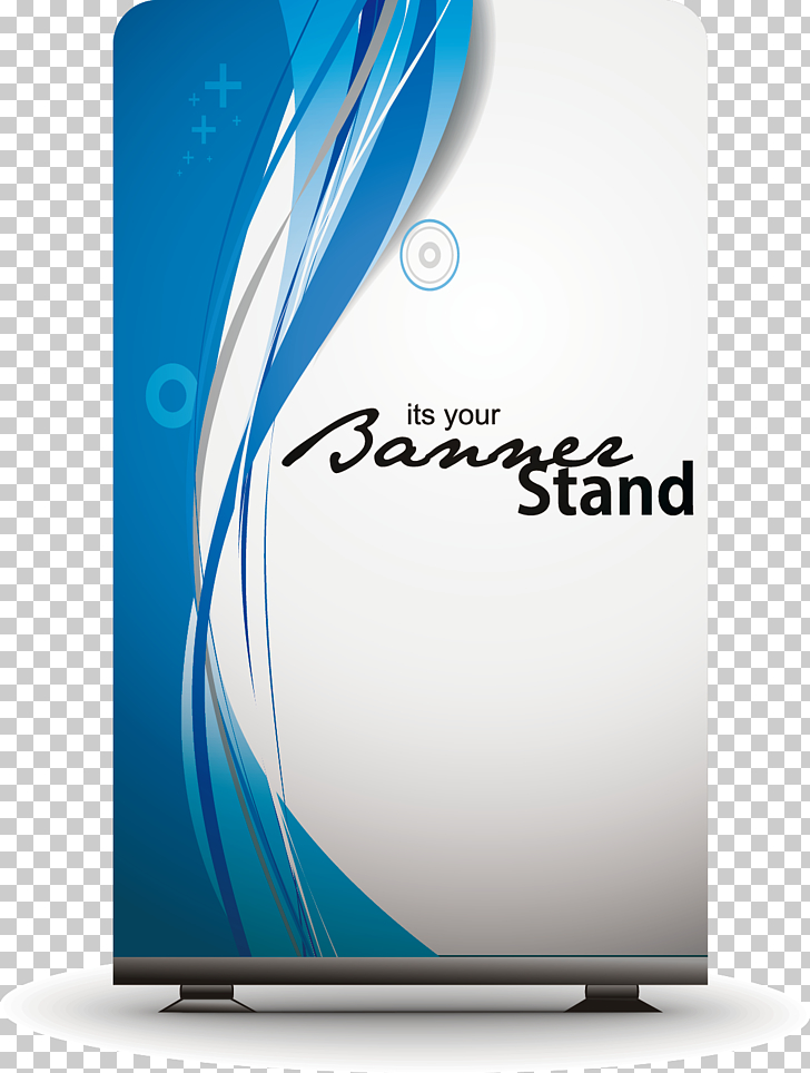 Poster Banner Illustration, poster template, white and blue.
