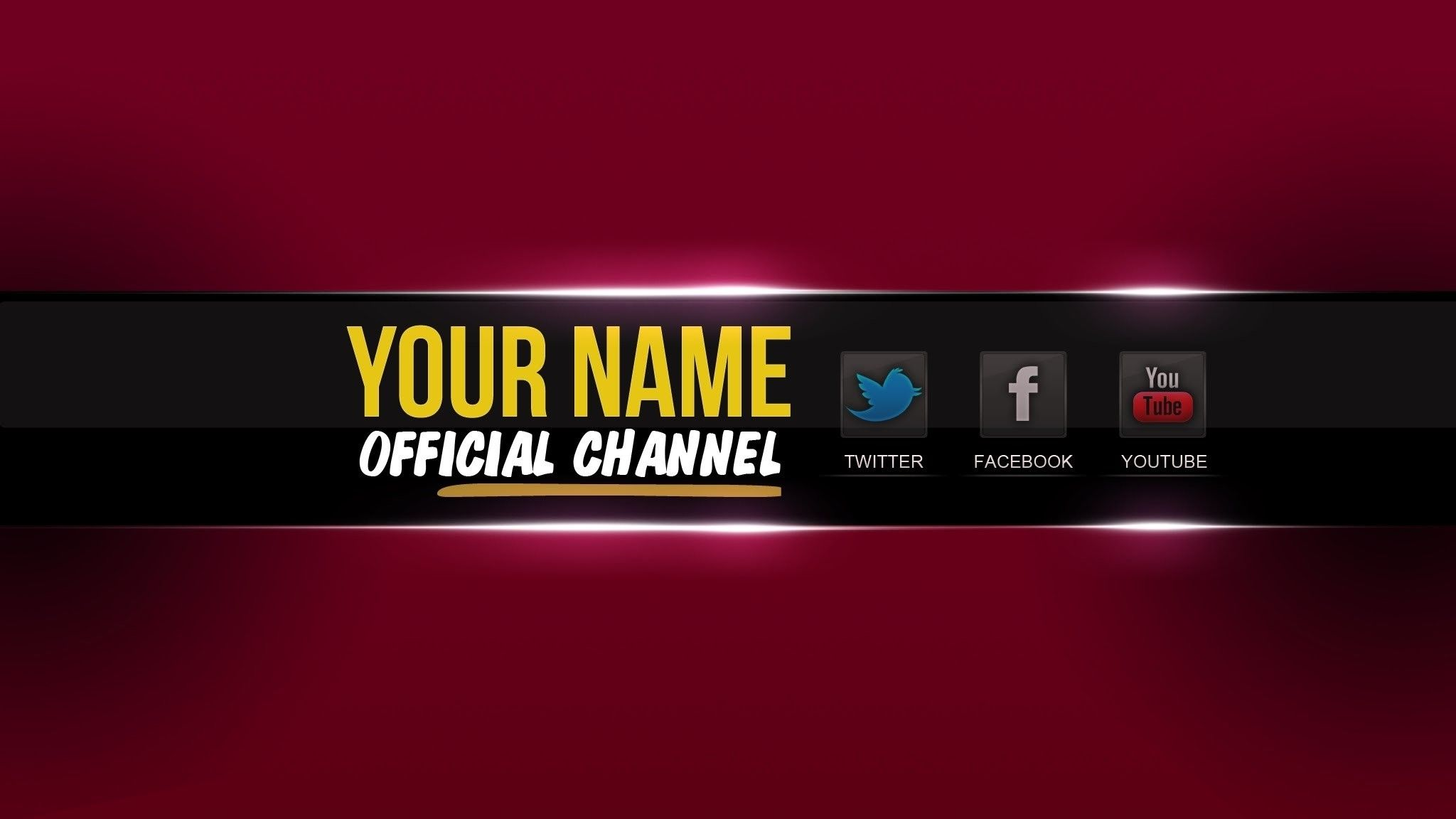 2048x1152 Youtube Banner Template Psd.
