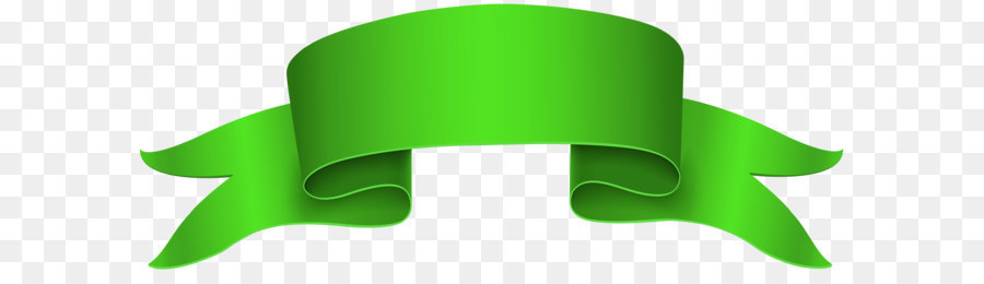 Green Background Ribbon png download.