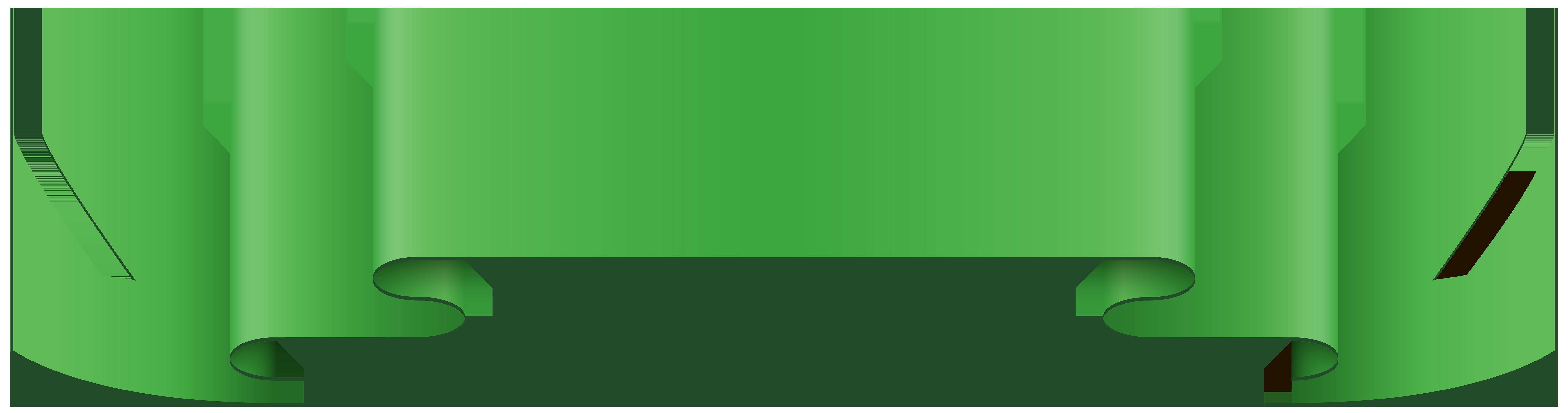 Banner Green Clip Art PNG Image.