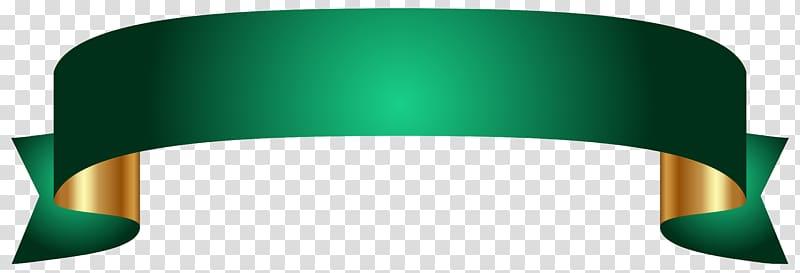 Banner , Green Banner , green ribbon logo transparent.