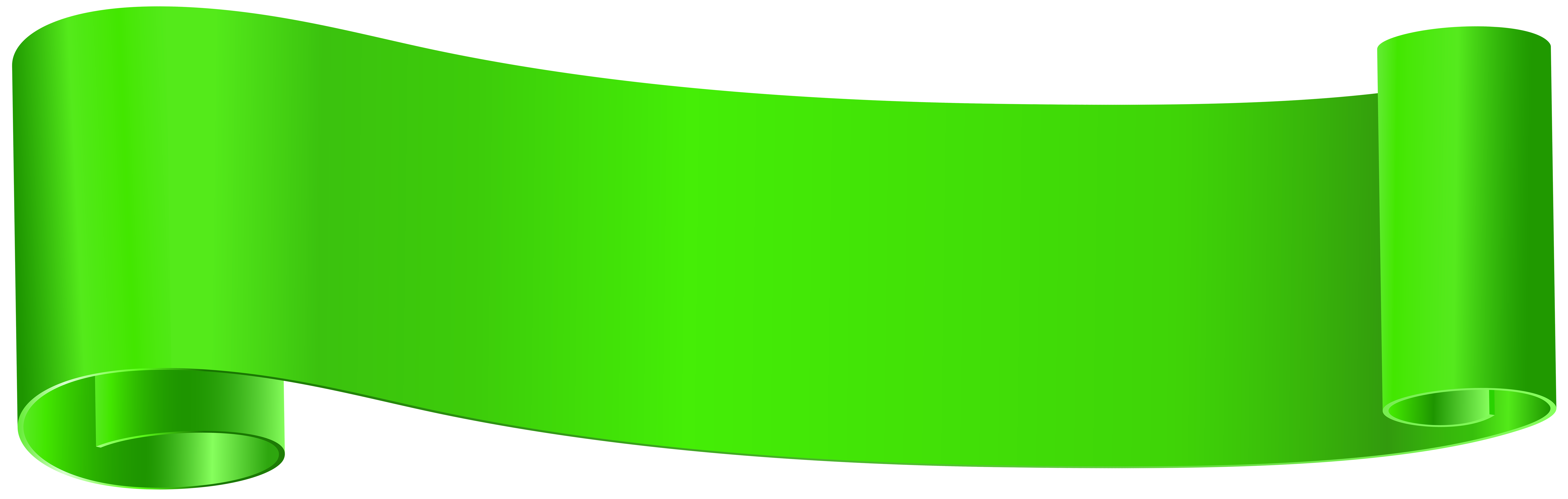 Green Banner Clip Art PNG Image.