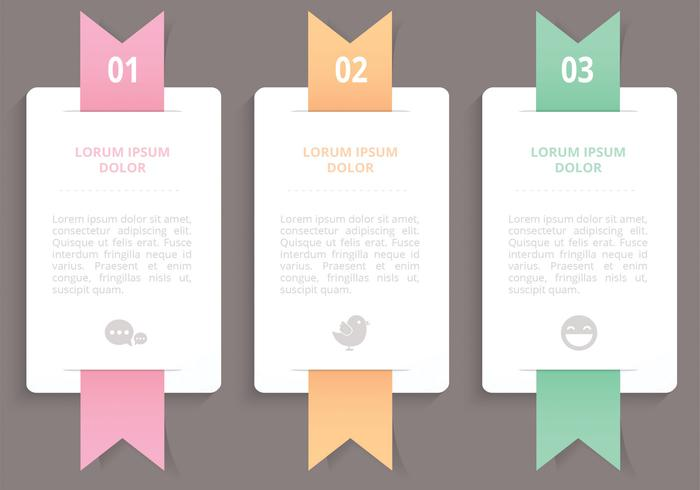 Vertical Ribbon Banners Vector.