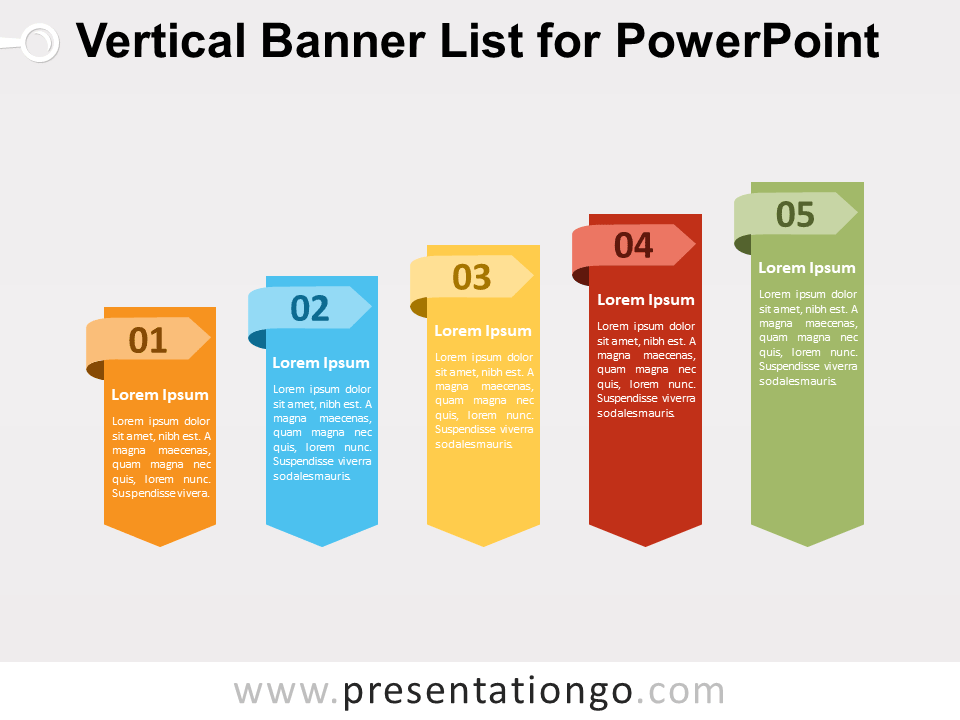 Vertical Banner List for PowerPoint.