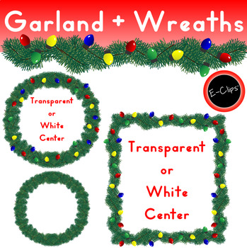 Garland Wreath Banner Frame Lighted Colorful Bulbs Christmas Holiday  Decoration.