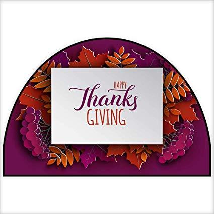 Amazon.com: Half Round door mats Happy Thanksgiving holiday.