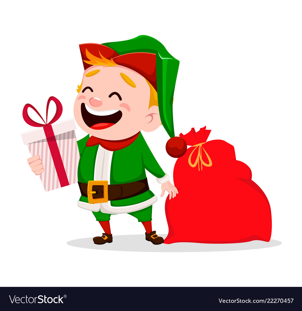 Merry christmas funny santa claus helper.