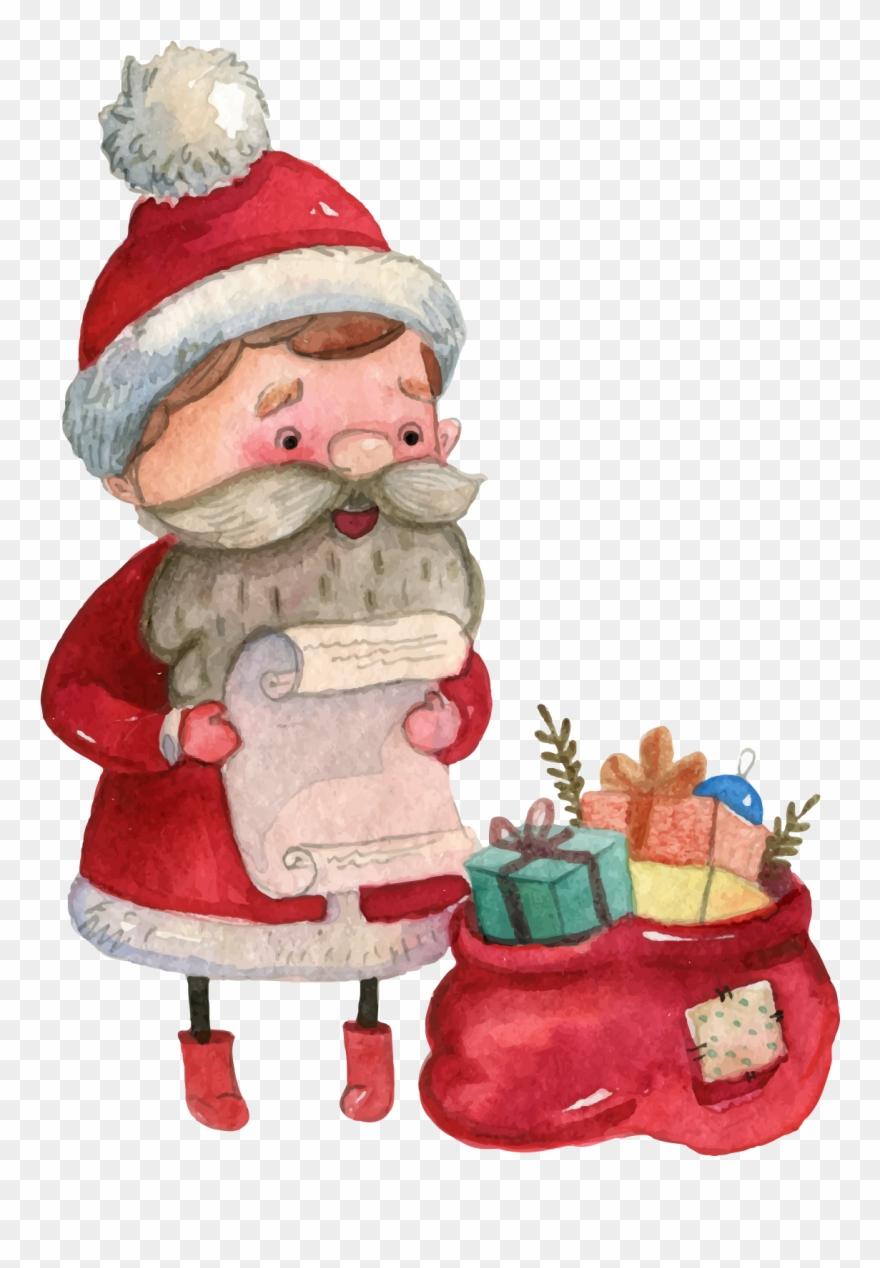 Banner Transparent Library Vector Santa Claus Transprent.