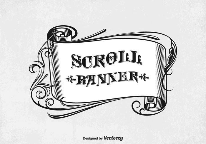 Vector Vintage Scroll Banner.