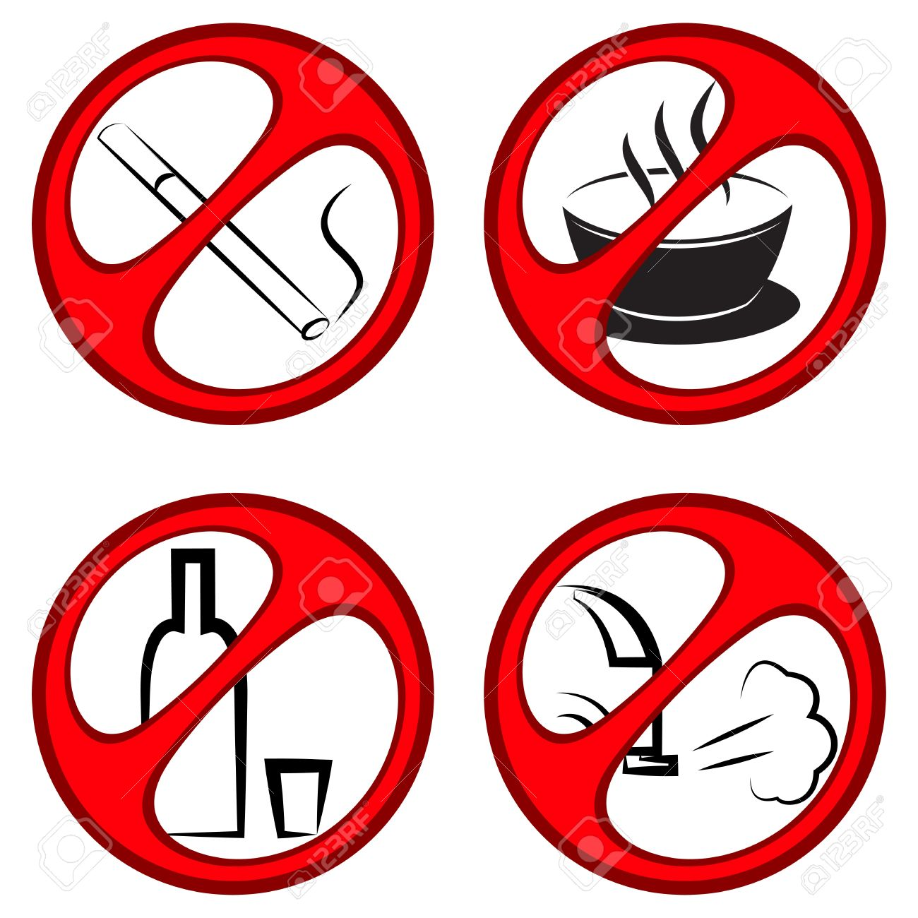No Caffeine Or Alcohol Clipart.