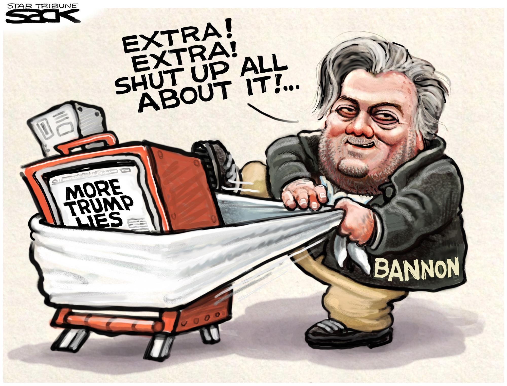 Sack cartoon: Steve Bannon.