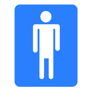 Men bathroom. Baño hombres clipart, cliparts of Men bathroom. Baño.