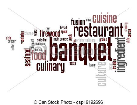 Stock Illustration of Banquet word cloud csp19192696.