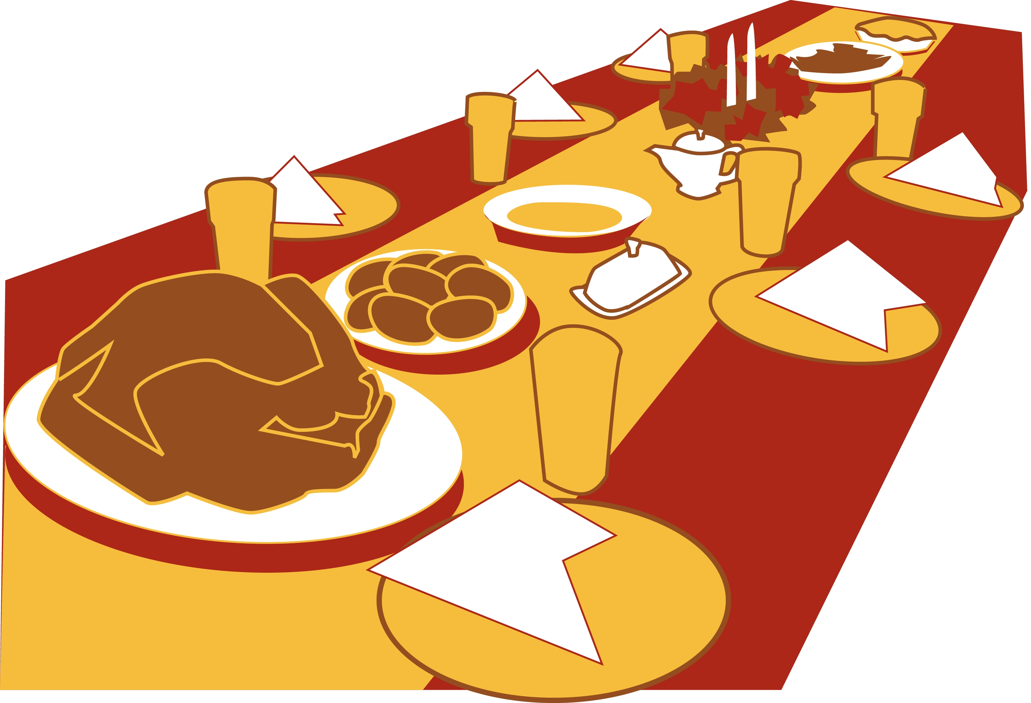Free banquet table food clipart.