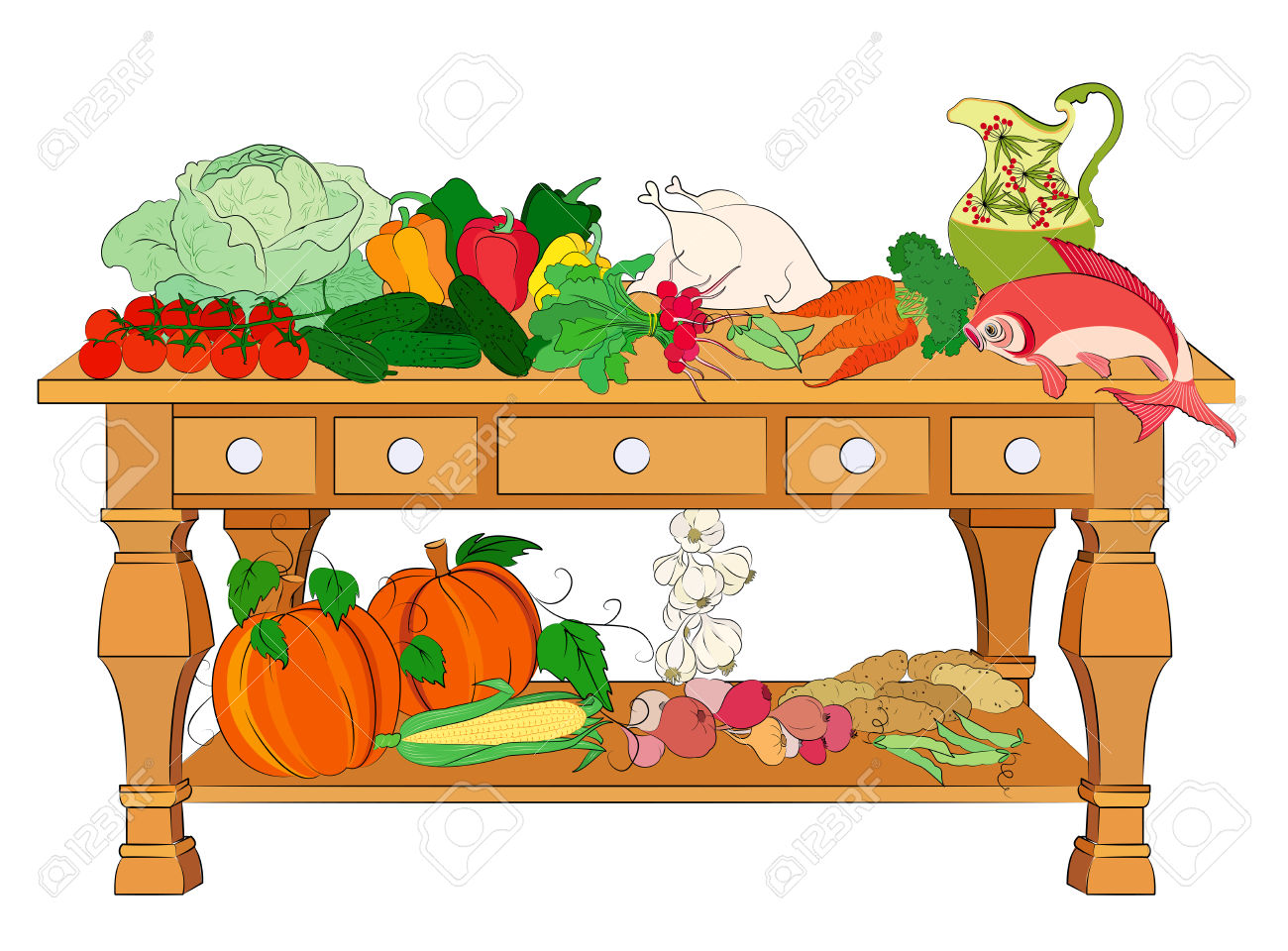 Table Full Of Food Clipart.