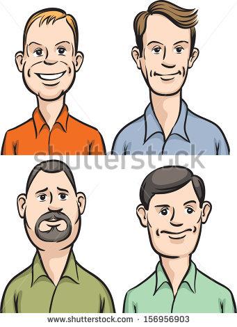 Avatar Icon Set 14 Cartoon Portrait Vectores En Stock 54187819.