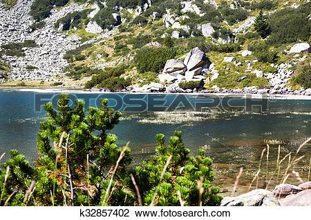 Stock Photo of Beautiful Lake in the mountains near Bansko.